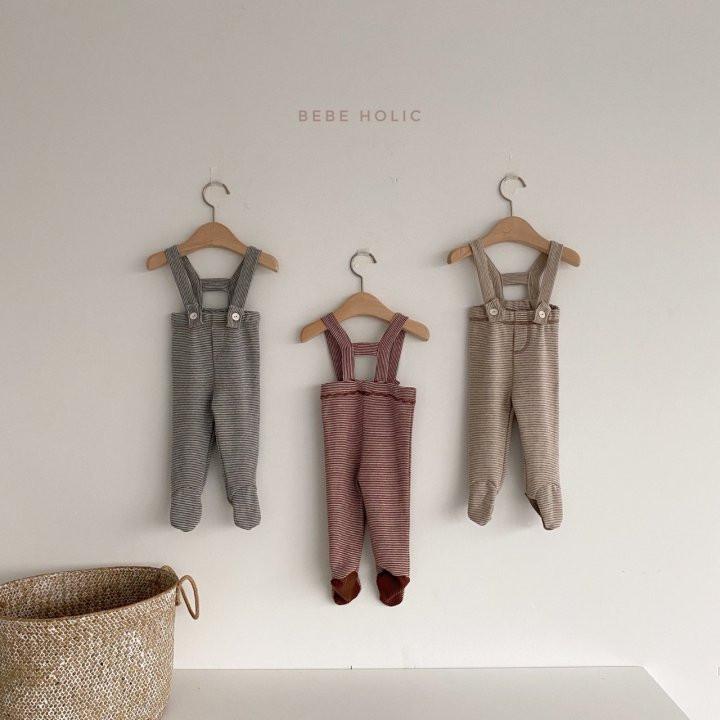 BEBE HOLIC - Korean Children Fashion - #Kfashion4kids - Ann Stripe Foot Suspender Pants