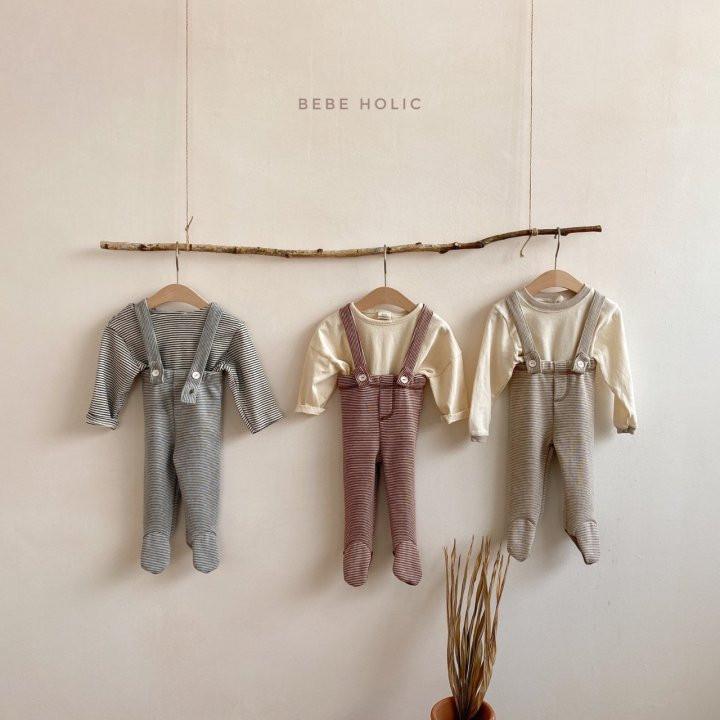 BEBE HOLIC - Korean Children Fashion - #Kfashion4kids - Ann Stripe Foot Suspender Pants - 2