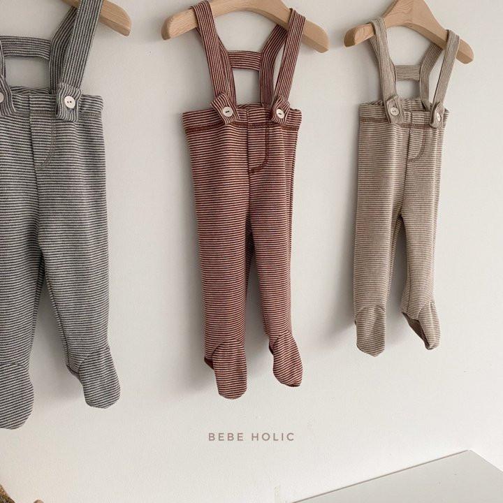 BEBE HOLIC - Korean Children Fashion - #Kfashion4kids - Ann Stripe Foot Suspender Pants - 4