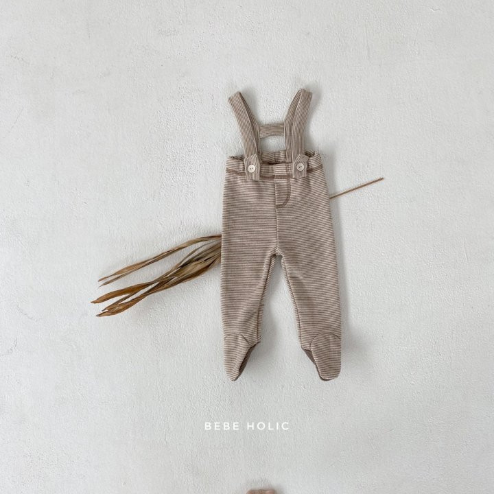 BEBE HOLIC - Korean Children Fashion - #Kfashion4kids - Ann Stripe Foot Suspender Pants - 8
