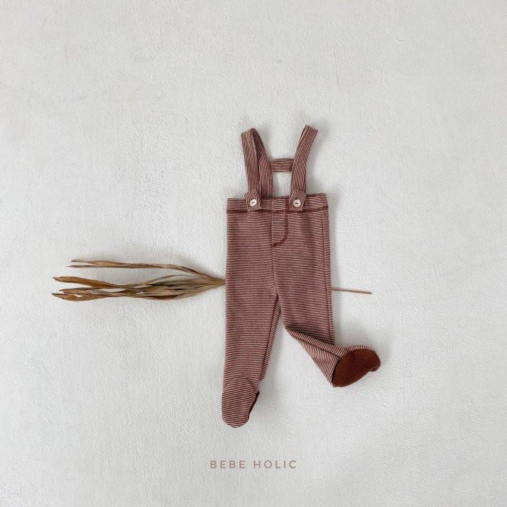 BEBE HOLIC - Korean Children Fashion - #Kfashion4kids - Ann Stripe Foot Suspender Pants - 9