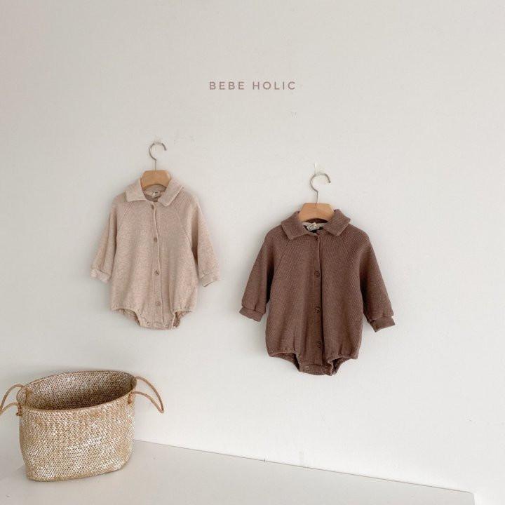 BEBE HOLIC - Korean Children Fashion - #Kfashion4kids - Waffle Collar Bodysuit - 3