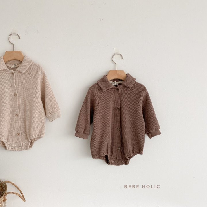 BEBE HOLIC - Korean Children Fashion - #Kfashion4kids - Waffle Collar Bodysuit - 4