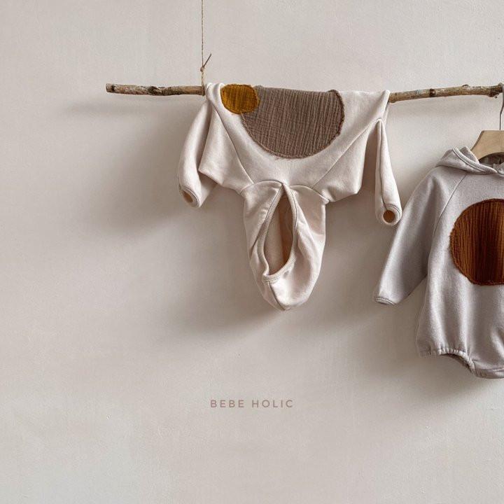 BEBE HOLIC - Korean Children Fashion - #Kfashion4kids - Round Patch Bodysuit - 3