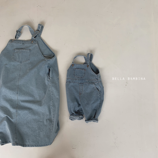 BELLA BAMBINA - Korean Children Fashion - #Kfashion4kids - Adult Denim Suspender One-piece - 3