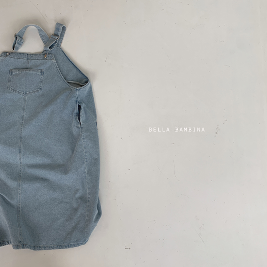 BELLA BAMBINA - Korean Children Fashion - #Kfashion4kids - Adult Denim Suspender One-piece - 4
