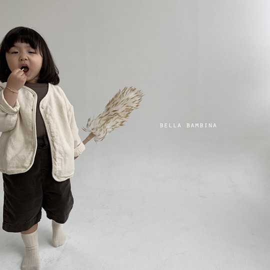 BELLA BAMBINA - BRAND - Korean Children Fashion - #Kfashion4kids - Rib Denny Midi Pants