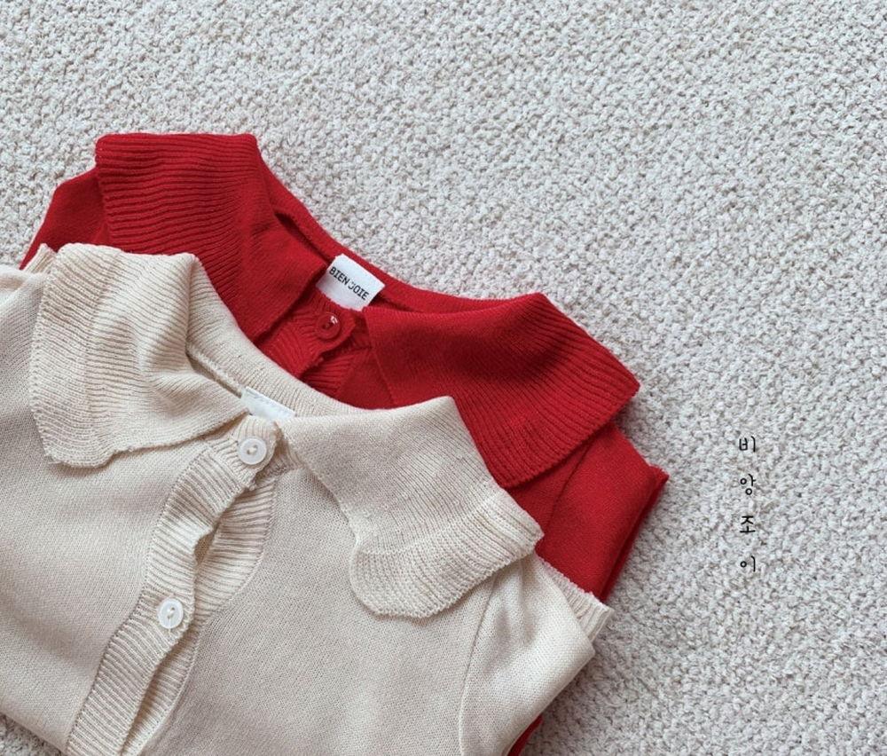 BIEN JOIE - Korean Children Fashion - #Kfashion4kids - Cherry Knit Cardigan