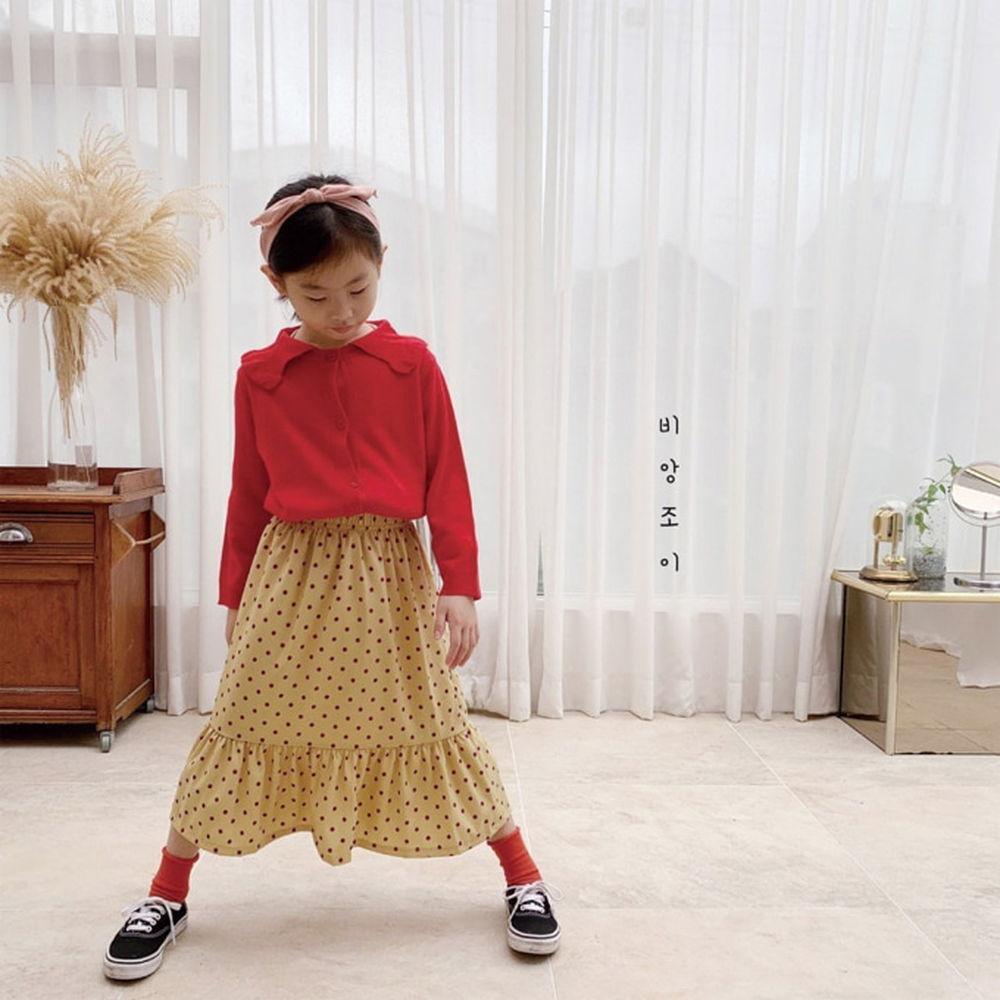 BIEN JOIE - BRAND - Korean Children Fashion - #Kfashion4kids - Cherry Knit Cardigan