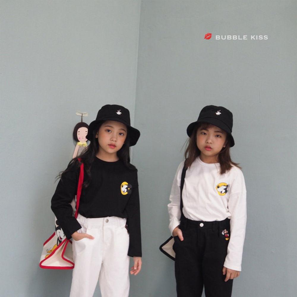 BUBBLE KISS - BRAND - Korean Children Fashion - #Kfashion4kids - Laugh Mickey Tee