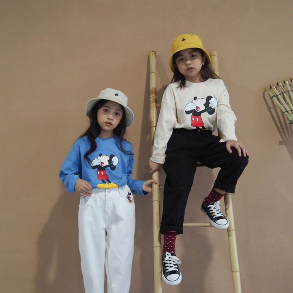 BUBBLE KISS - BRAND - Korean Children Fashion - #Kfashion4kids - Yawn Mickey Tee