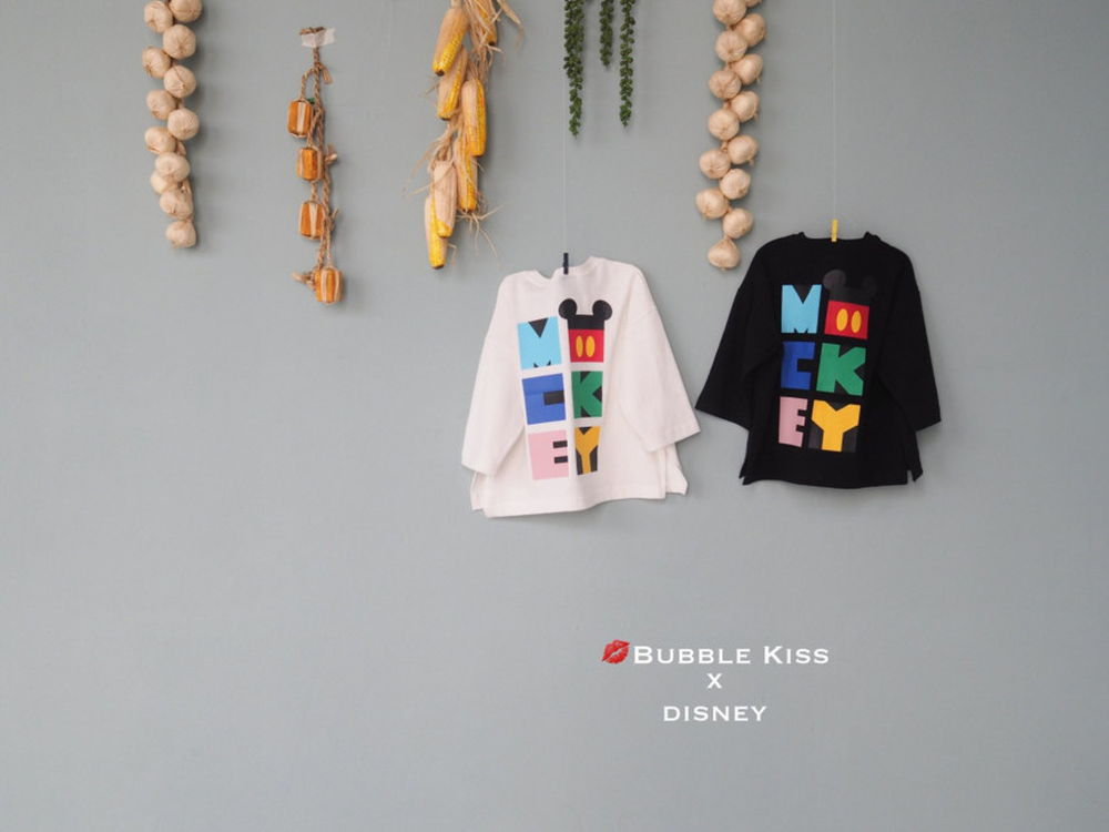 BUBBLE KISS - Korean Children Fashion - #Kfashion4kids - Mickey long Tee