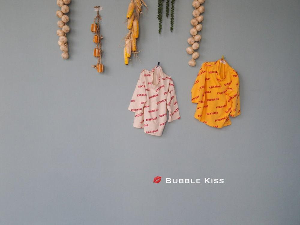 BUBBLE KISS - Korean Children Fashion - #Kfashion4kids - Bubble Kiss Long Tee