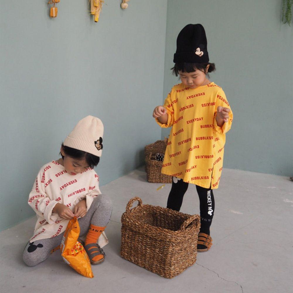 BUBBLE KISS - BRAND - Korean Children Fashion - #Kfashion4kids - Bubble Kiss Long Tee