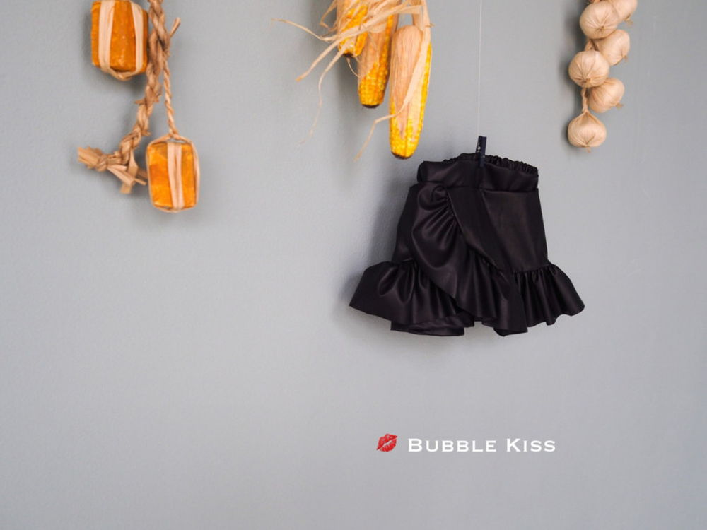 BUBBLE KISS - Korean Children Fashion - #Kfashion4kids - Leather Frill Pants