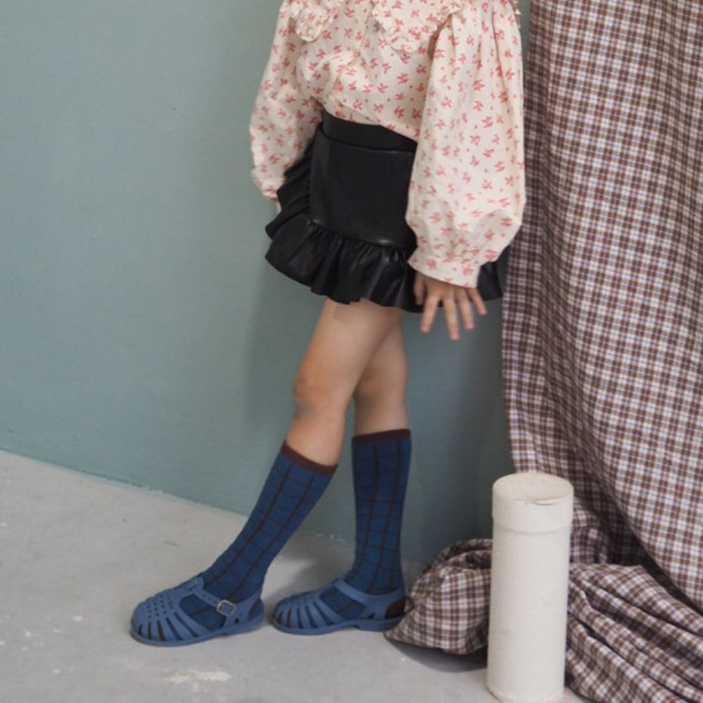 BUBBLE KISS - BRAND - Korean Children Fashion - #Kfashion4kids - Leather Frill Pants