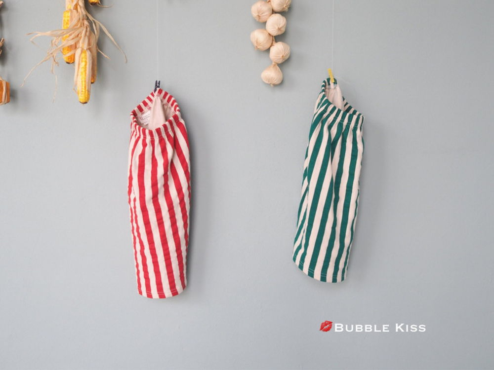 BUBBLE KISS - Korean Children Fashion - #Kfashion4kids - Stripe Long Skirt