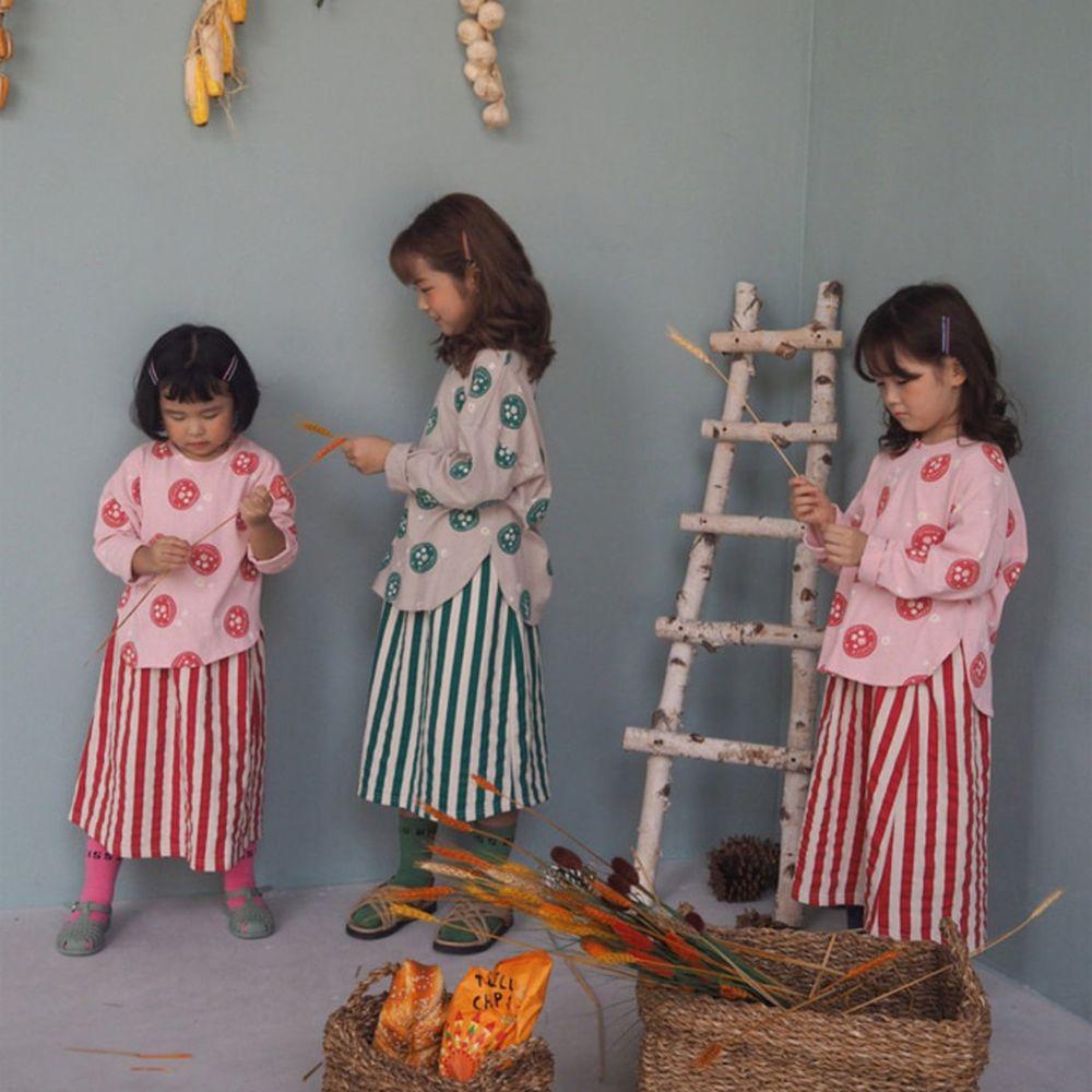 BUBBLE KISS - BRAND - Korean Children Fashion - #Kfashion4kids - Stripe Long Skirt