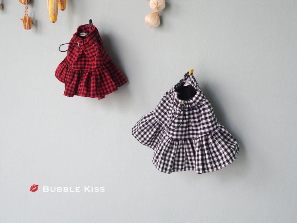 BUBBLE KISS - Korean Children Fashion - #Kfashion4kids - Check Cancan Skirt Set-up