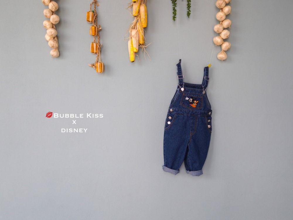 BUBBLE KISS - Korean Children Fashion - #Kfashion4kids - Mickey Suspender Pants