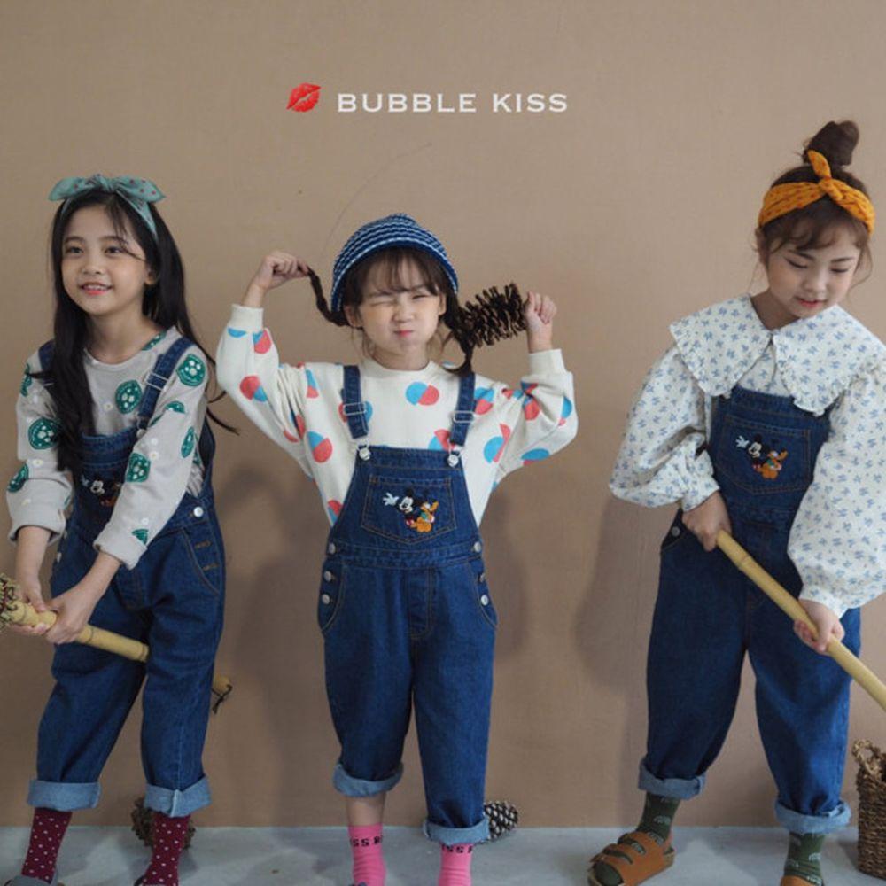 BUBBLE KISS - BRAND - Korean Children Fashion - #Kfashion4kids - Mickey Suspender Pants