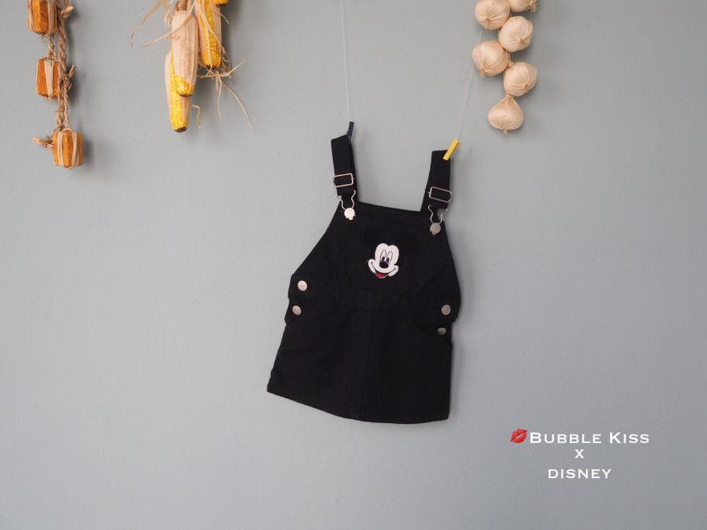 BUBBLE KISS - Korean Children Fashion - #Kfashion4kids - Mickey Suspender Skirt