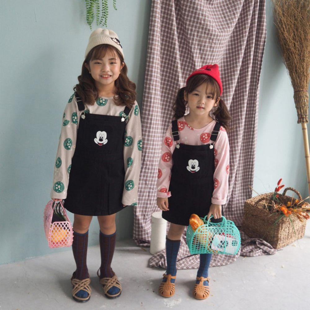 BUBBLE KISS - BRAND - Korean Children Fashion - #Kfashion4kids - Mickey Suspender Skirt