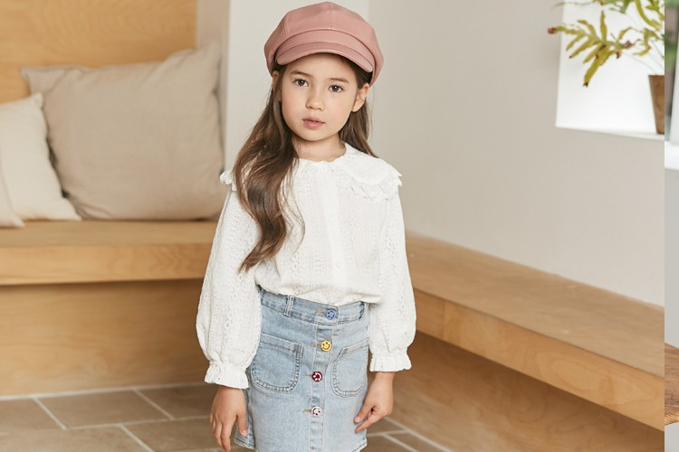 COCO RIBBON - BRAND - Korean Children Fashion - #Kfashion4kids - Lace Blouse