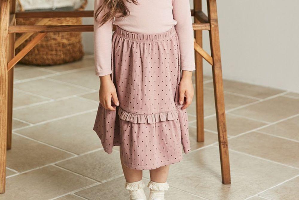 COCO RIBBON - BRAND - Korean Children Fashion - #Kfashion4kids - Small Dot Skirt