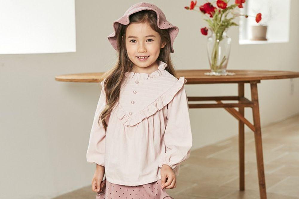 COCO RIBBON - BRAND - Korean Children Fashion - #Kfashion4kids - Pintuck Blouse
