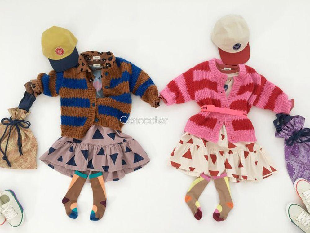 CONCOCTER - Korean Children Fashion - #Kfashion4kids - Kara Stripe Knit Cardigan