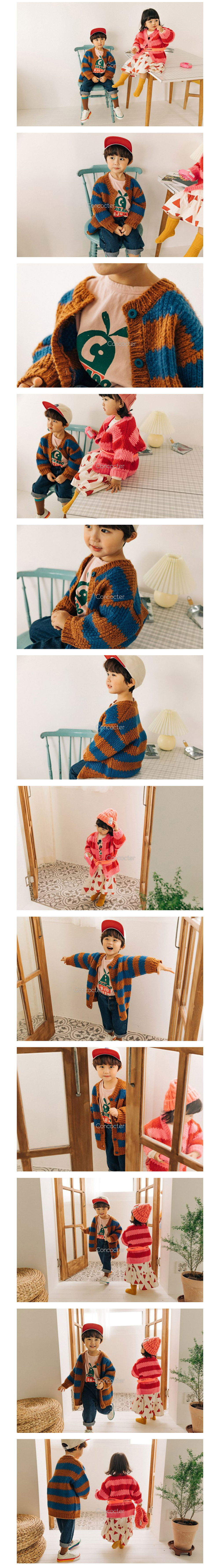 CONCOCTER - Korean Children Fashion - #Kfashion4kids - Kara Stripe Knit Cardigan - 2