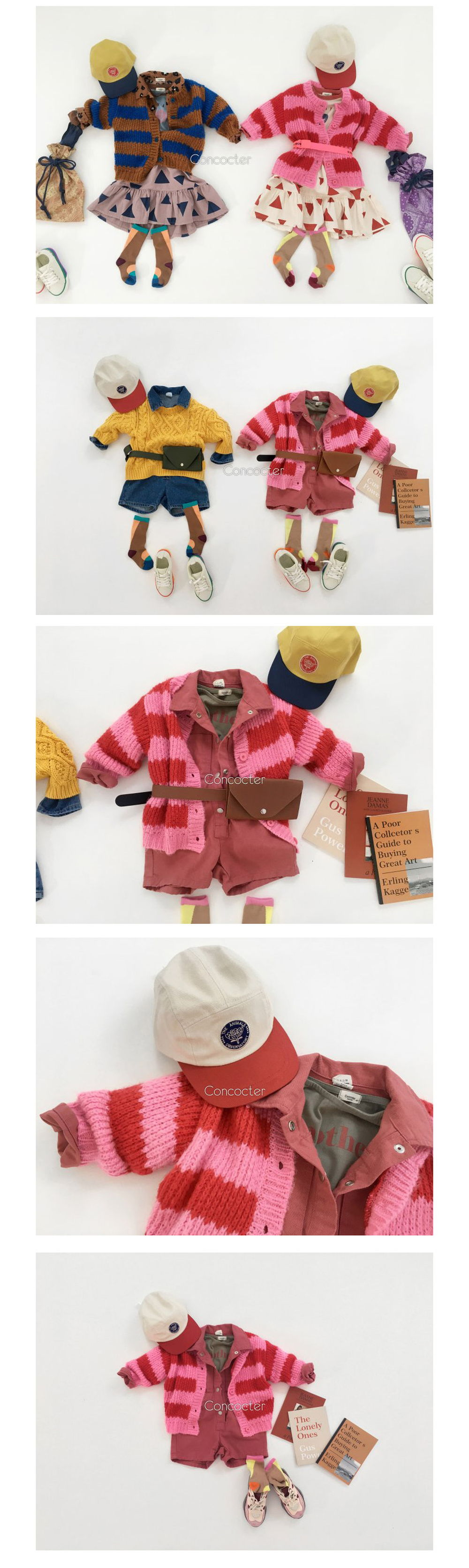 CONCOCTER - Korean Children Fashion - #Kfashion4kids - Kara Stripe Knit Cardigan - 3