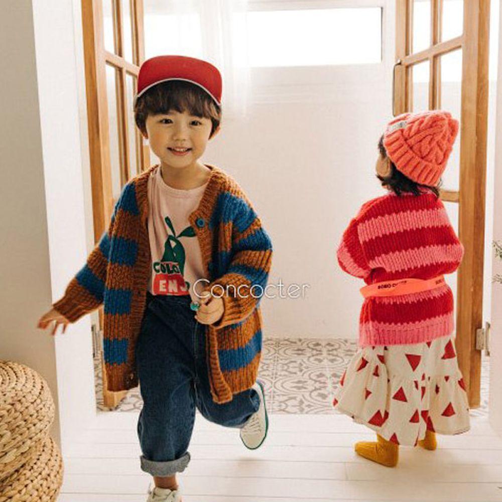 CONCOCTER - BRAND - Korean Children Fashion - #Kfashion4kids - Kara Stripe Knit Cardigan