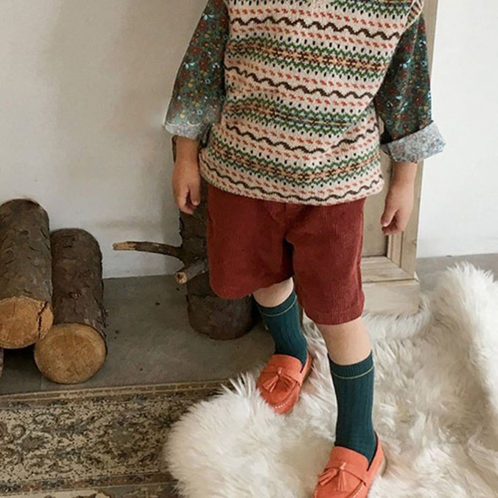 CONCOCTER - BRAND - Korean Children Fashion - #Kfashion4kids - Button Corduroy Shorts