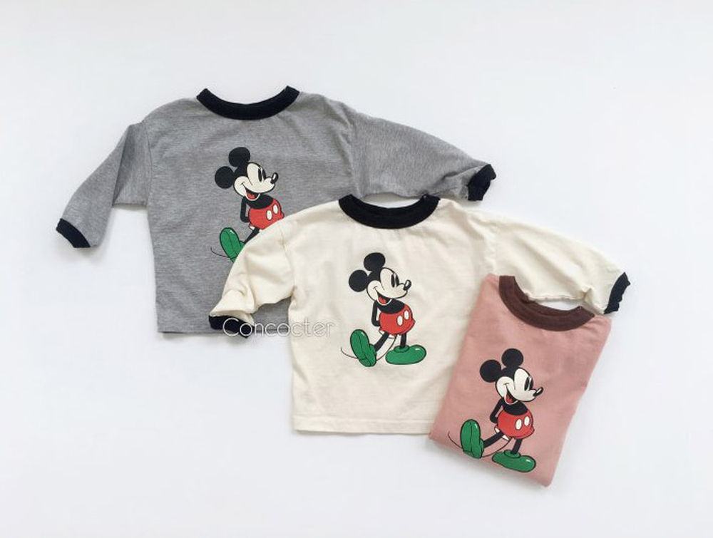 CONCOCTER - Korean Children Fashion - #Kfashion4kids - Mickey Colored Tee