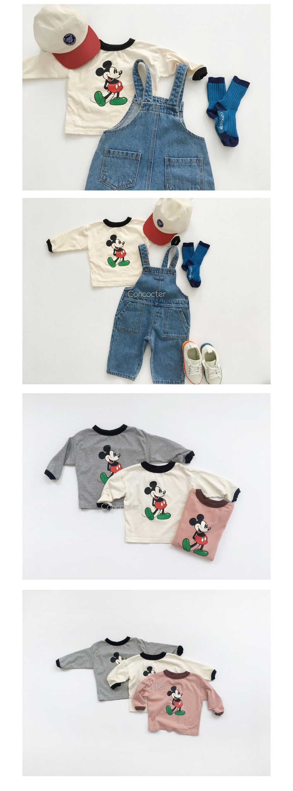 CONCOCTER - Korean Children Fashion - #Kfashion4kids - Mickey Colored Tee - 3