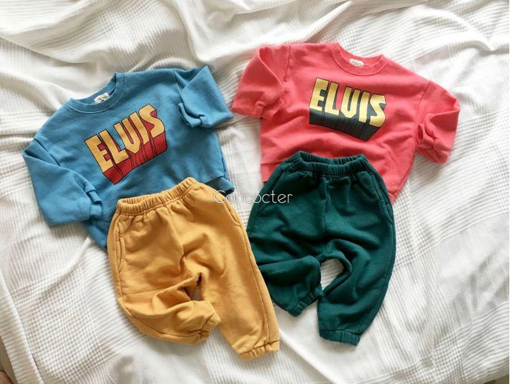 CONCOCTER - Korean Children Fashion - #Kfashion4kids - Elvis Top Bottom Set