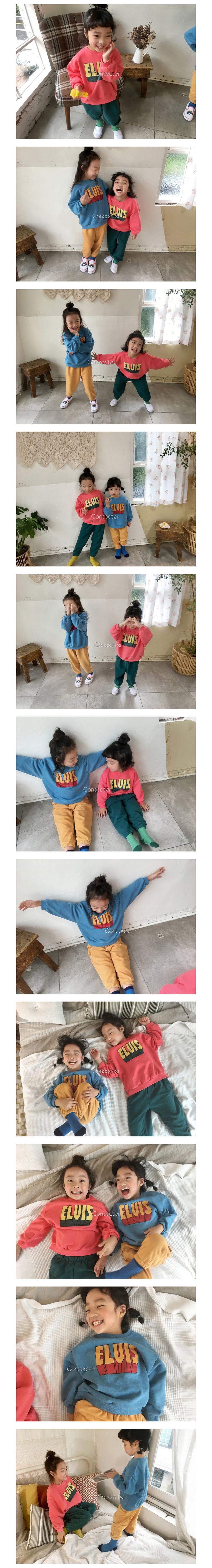 CONCOCTER - Korean Children Fashion - #Kfashion4kids - Elvis Top Bottom Set - 2