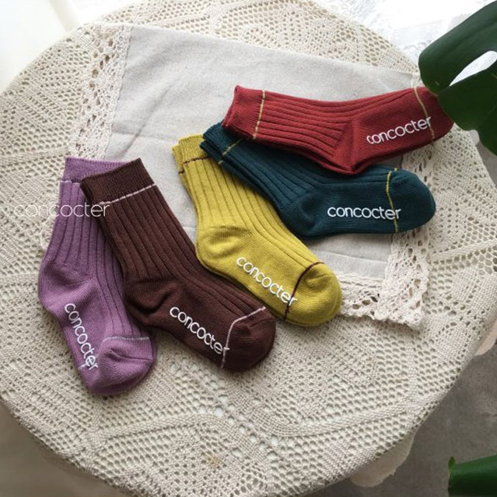 CONCOCTER - BRAND - Korean Children Fashion - #Kfashion4kids - Day Socks [set of 5]