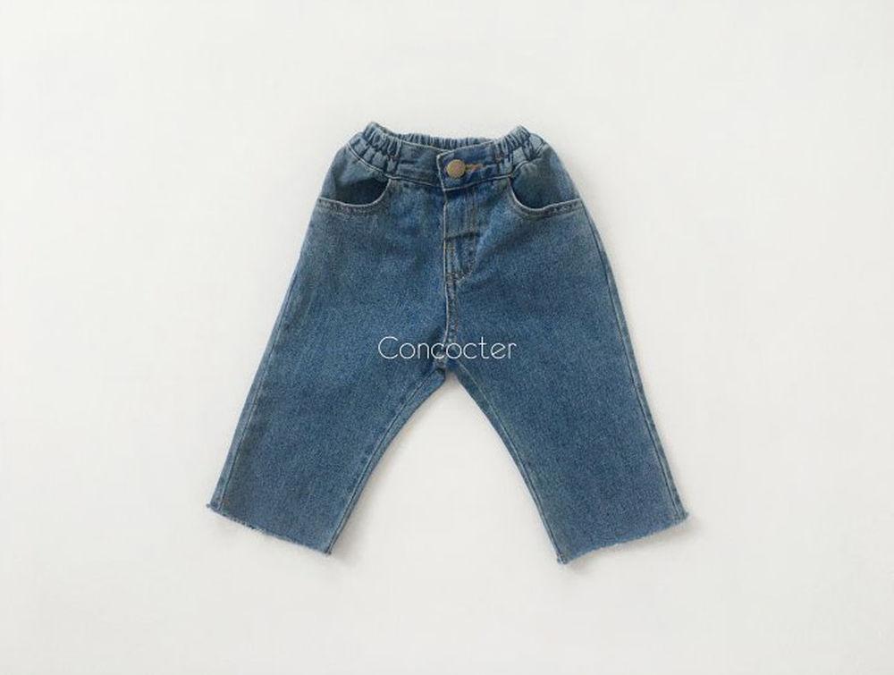 CONCOCTER - Korean Children Fashion - #Kfashion4kids - Yohoo Cutting Straight Jeans
