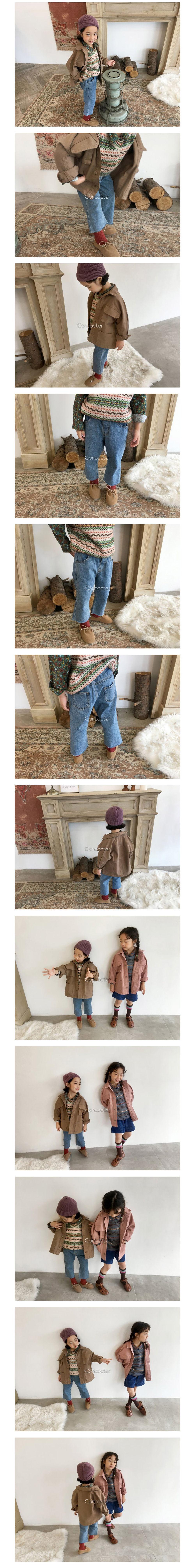 CONCOCTER - Korean Children Fashion - #Kfashion4kids - Yohoo Cutting Straight Jeans - 2