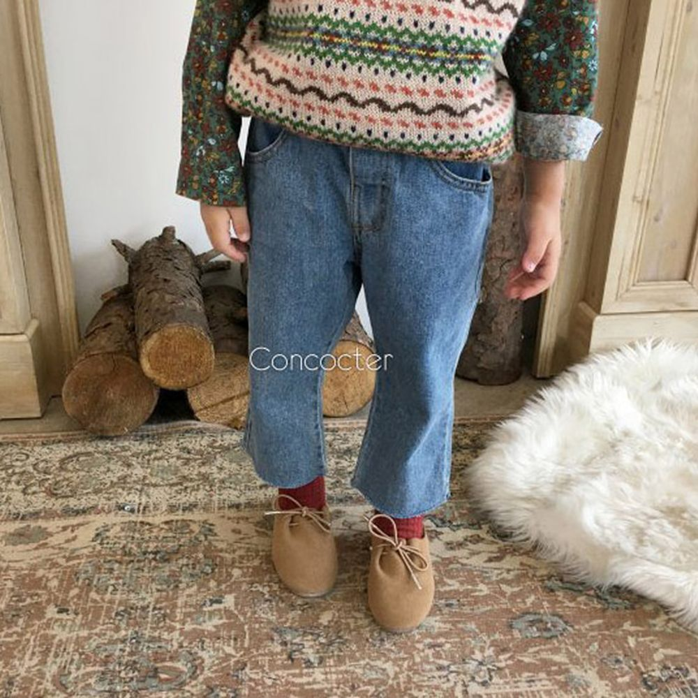 CONCOCTER - BRAND - Korean Children Fashion - #Kfashion4kids - Yohoo Cutting Straight Jeans