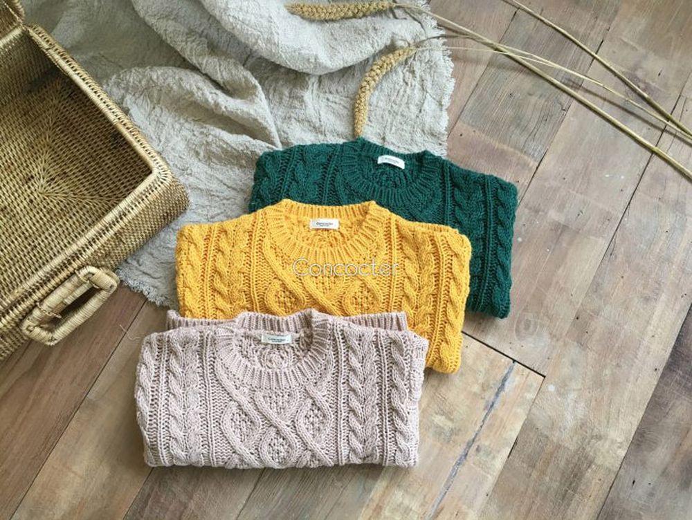 CONCOCTER - Korean Children Fashion - #Kfashion4kids - Pretty Twist Knit Pullover