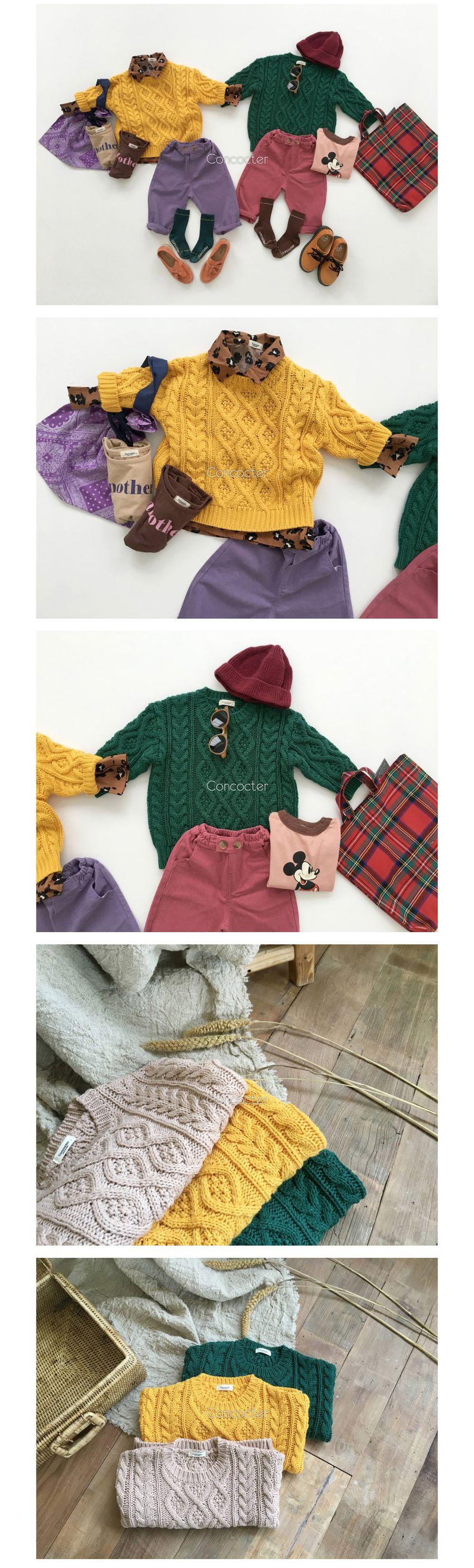 CONCOCTER - Korean Children Fashion - #Kfashion4kids - Pretty Twist Knit Pullover - 3