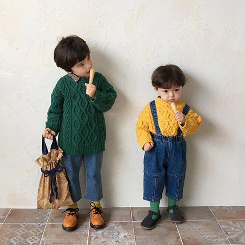CONCOCTER - BRAND - Korean Children Fashion - #Kfashion4kids - Pretty Twist Knit Pullover