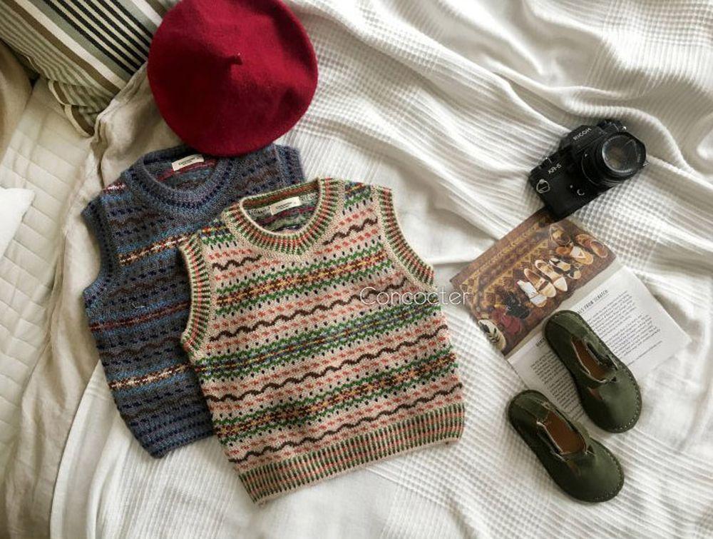 CONCOCTER - Korean Children Fashion - #Kfashion4kids - Caramel Knit Vest