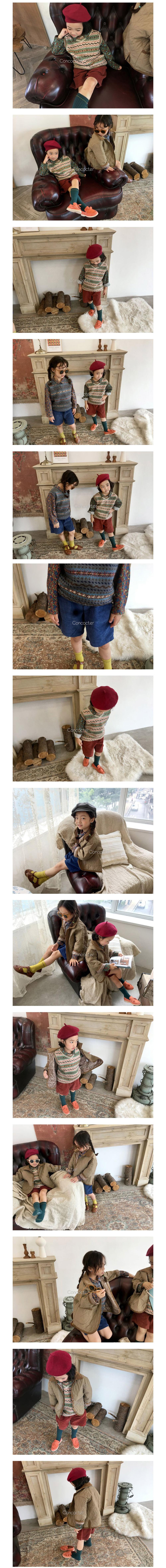 CONCOCTER - Korean Children Fashion - #Kfashion4kids - Caramel Knit Vest - 2