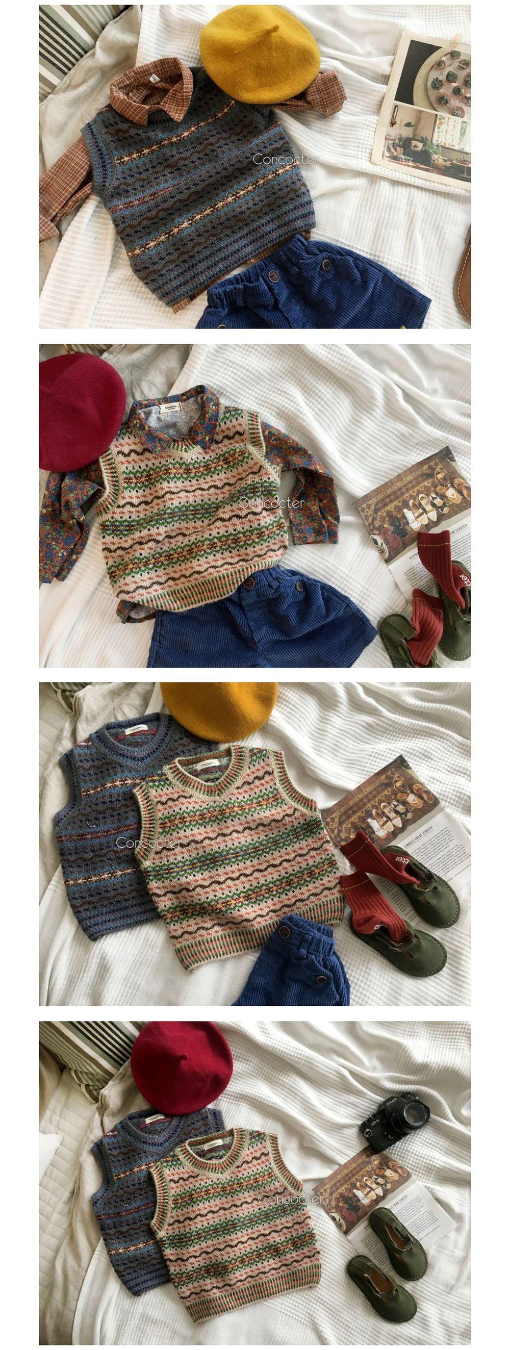 CONCOCTER - Korean Children Fashion - #Kfashion4kids - Caramel Knit Vest - 3