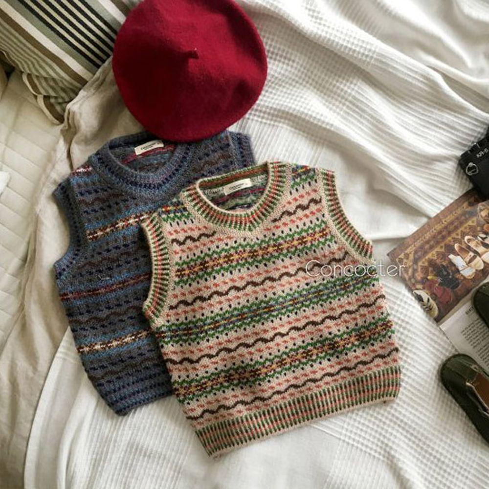 CONCOCTER - BRAND - Korean Children Fashion - #Kfashion4kids - Caramel Knit Vest